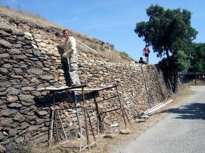 Murs pierres sèches et glacis