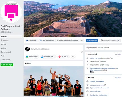 Page Facebook Fort Dugommier
